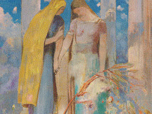 オディロン・ルドン 《神秘的な対話》