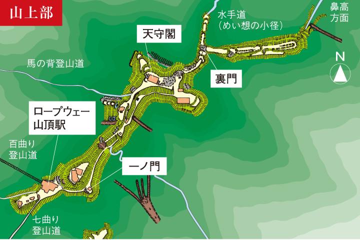 金華山山頂図