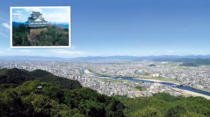 05金華山のてっぺんから岐阜市を見渡す