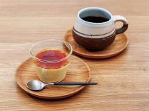 cafe旅人の木-醍醐卵のなめらかプリン/こがねブレンド