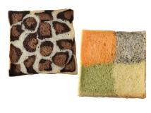 ハナマザパン-ヒョウ柄食パン/4色食パン