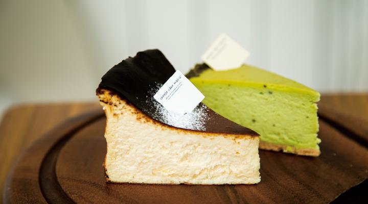 バスクチーズケーキ ピスタチオのチーズケーキ
