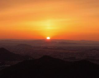 金華山山頂からの初日の出